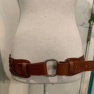 Línea pelle belt veg bonded brown wide belt